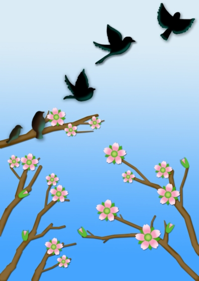 birds flying , Free clipart download.