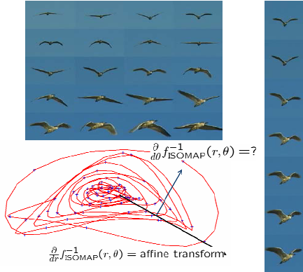 Every fourth image of a video sequence of a bird flying across the.