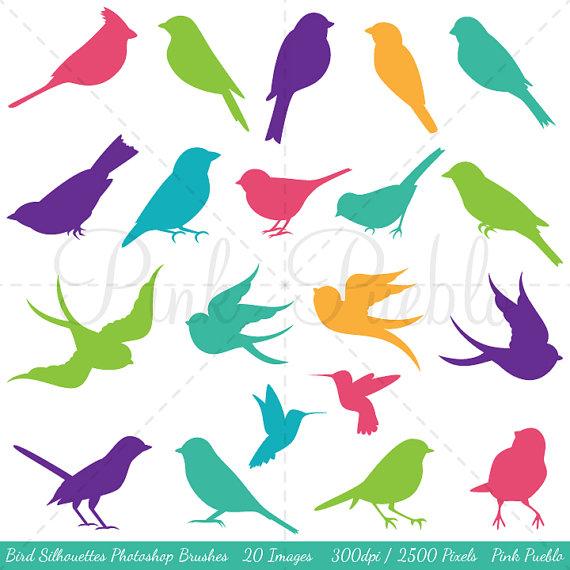 Bird Silhouettes Photoshop Brushes, Bird Photoshop Brushes.