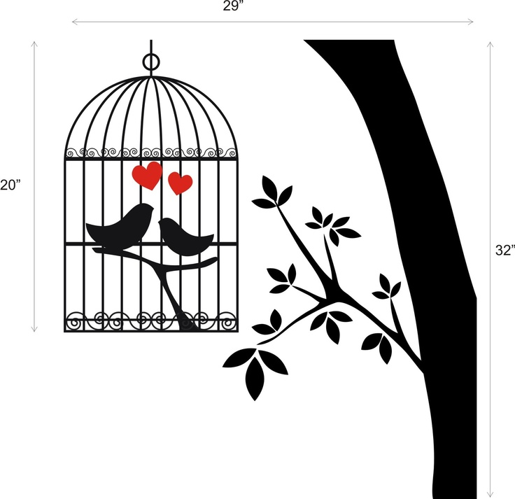 Love Birds In Cage Clipart.
