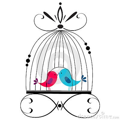 Cage clipart love birds, Cage love birds Transparent FREE.