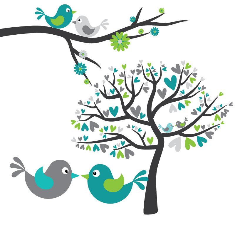 Love Birds Clipart.