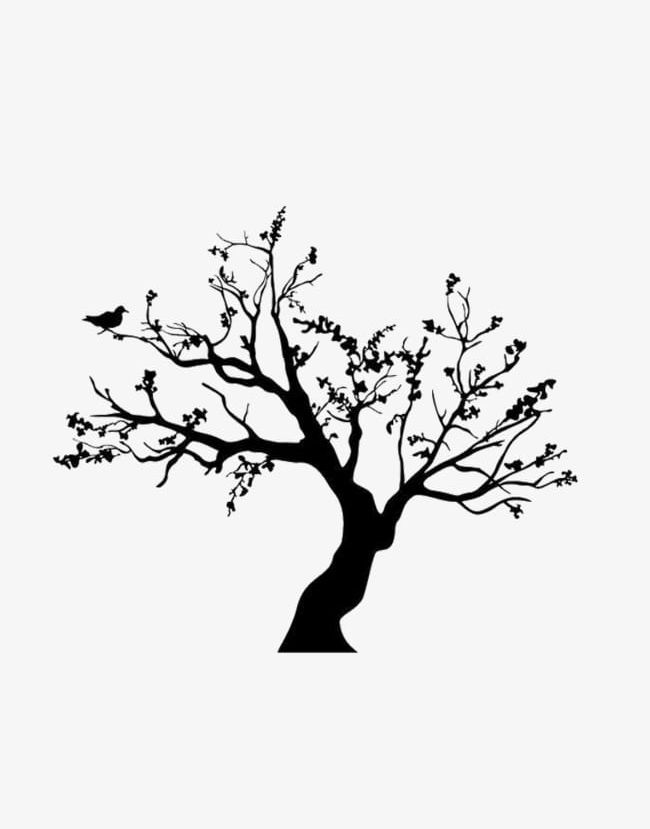 Winter Trees PNG, Clipart, Birds, Black, Simple, Tree, Trees.