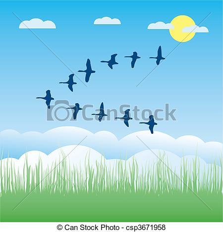 Migratory birds Illustrations and Clip Art. 988 Migratory birds.