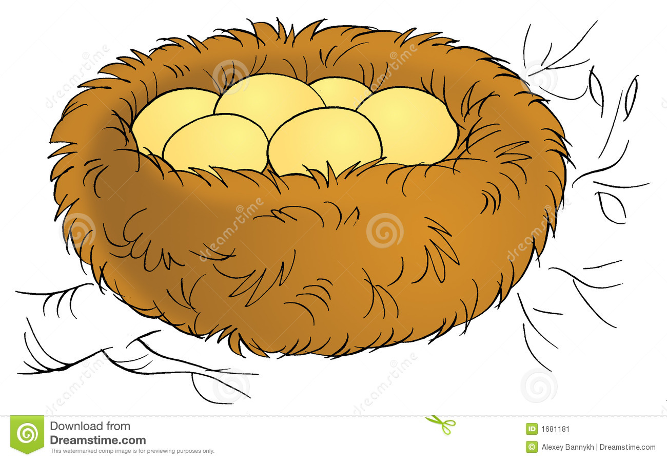 Cartoon Bird Nest Stock Illustrations.