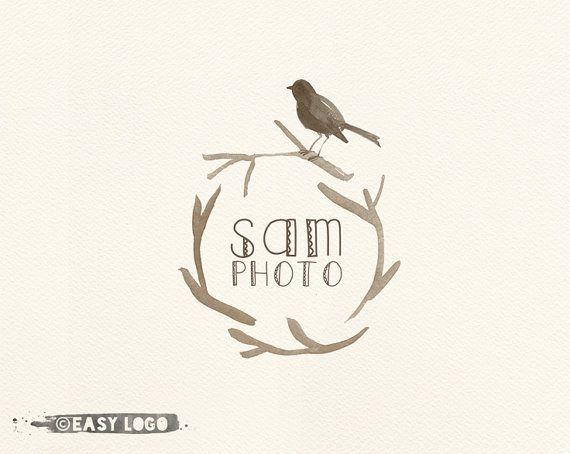 Bird Nest Logo Design. Photography Logo. Personalizable.