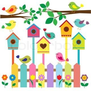 bird house cartoon images.