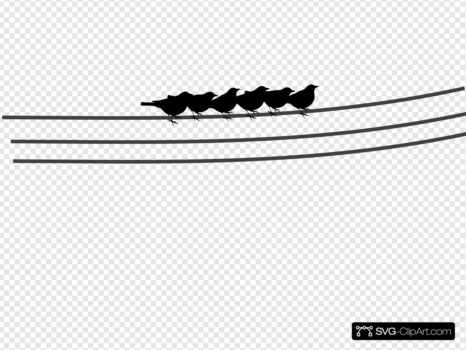 Birds On Power Lines Clip art, Icon and SVG.