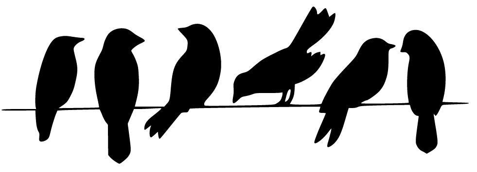 Birds On A Wire Silhouette.