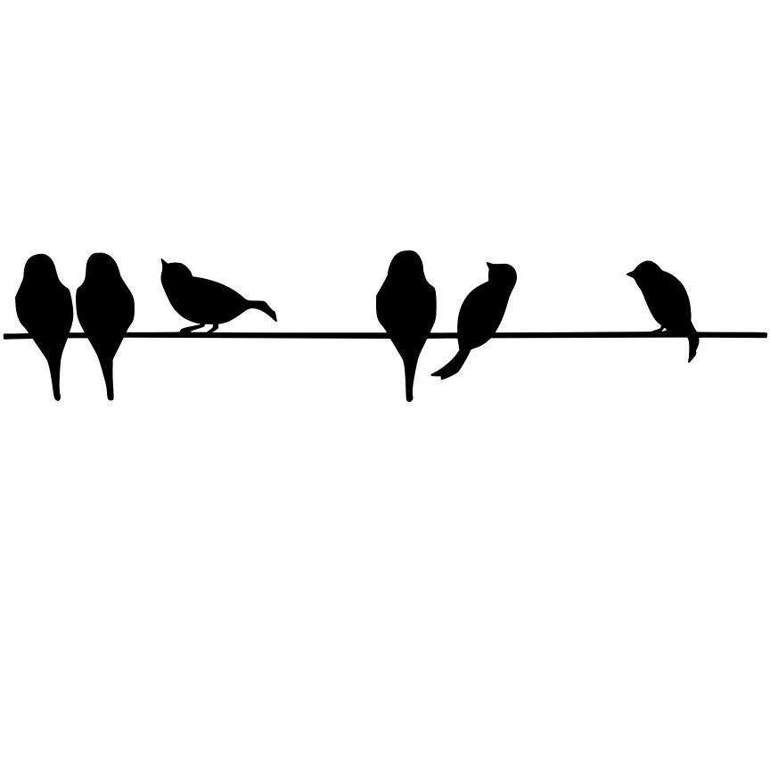 Bird On Wire Silhouette.