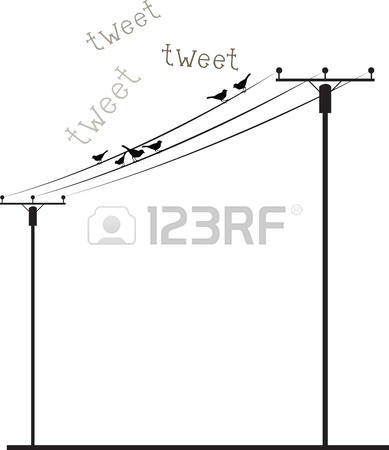 Birds on power pole clipart - Clipground