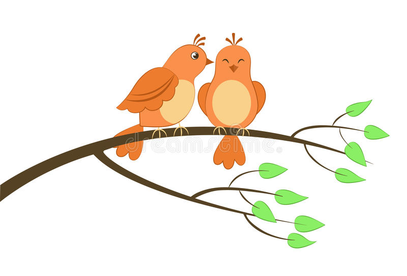 Two Birds In A Tree Clipart.