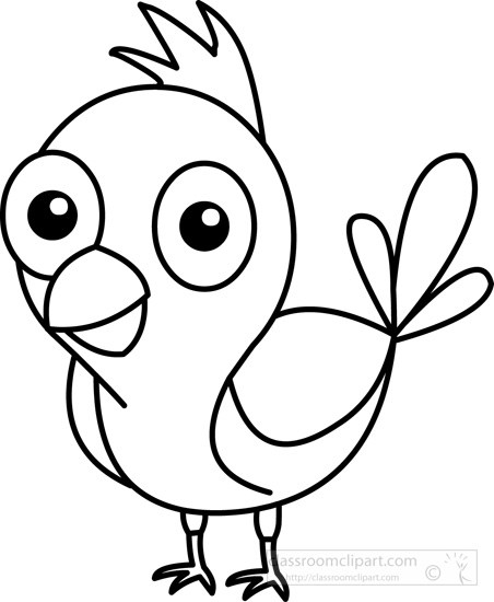 Bird outline clipart 6 » Clipart Portal.