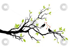 Lemon Tree with Love Birds Digital Clip Art by viveradesign, $5.00.