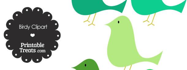 Green Birdy Clipart — Printable Treats.com.