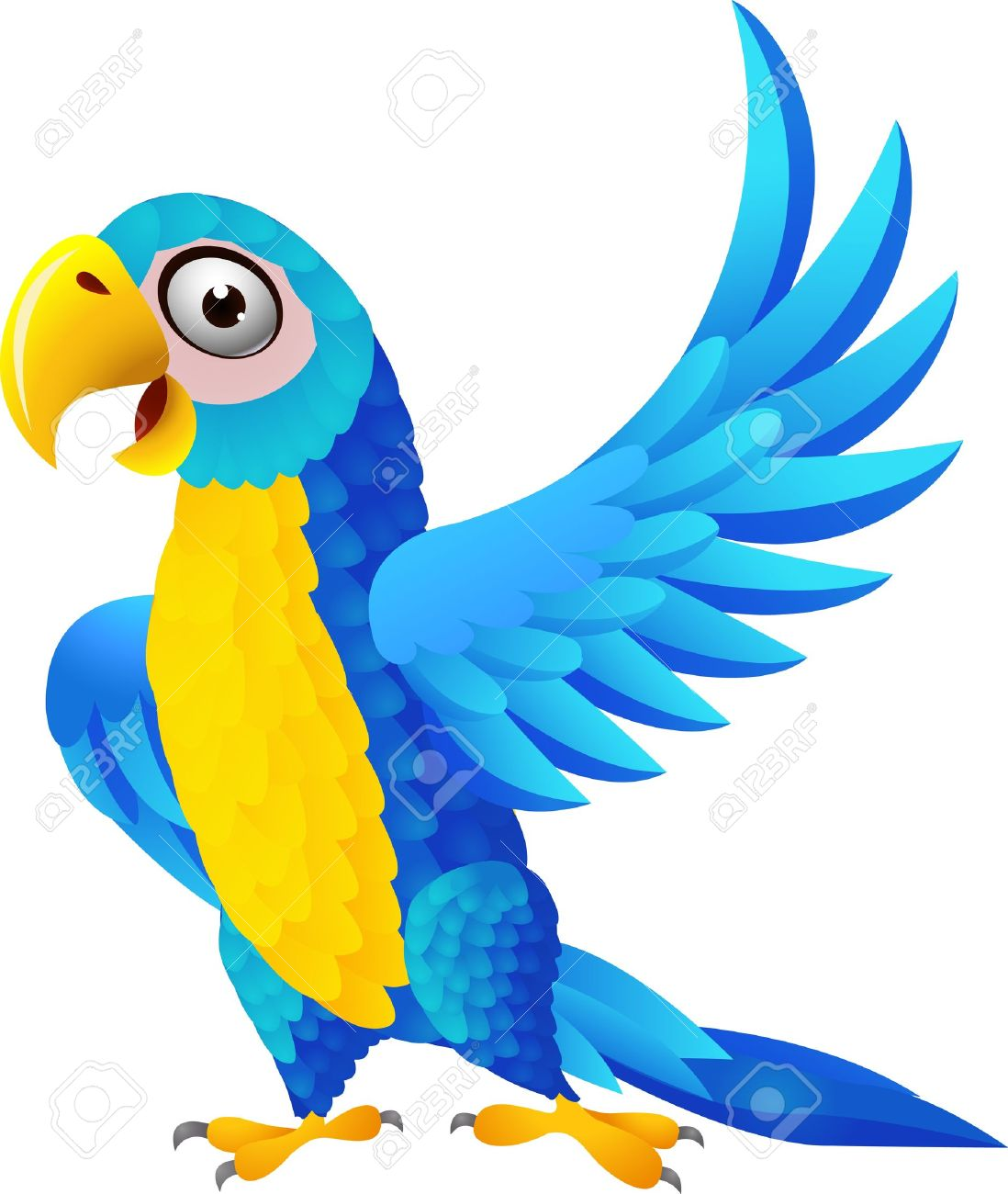 Illustration Of Macaw Birg Royalty Free Cliparts, Vectors, And.