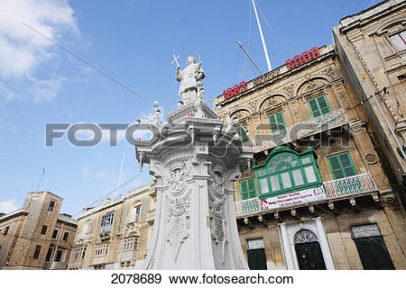Stock Photograph of Statue Of St. Lawrence On Misrah Ir.