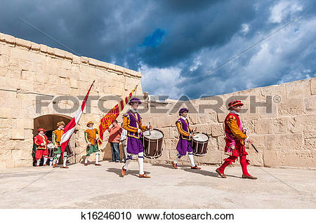 Stock Photography of In Guardia Parade at St. Jonh's Cavalier in.