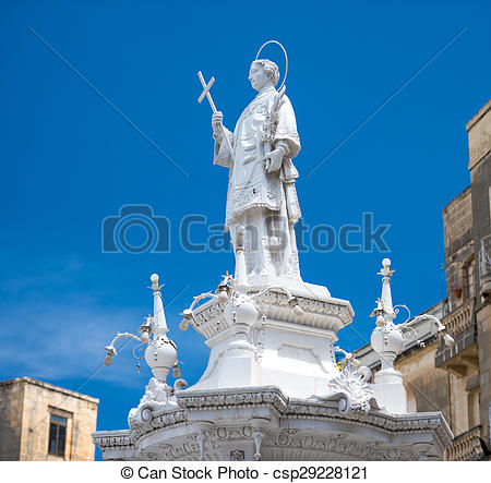 Stock Photo of Statue Of St. Lawrence On Misrah Ir.