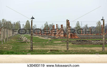 Stock Photograph of Auschwitz II Birkenau. Poland. k30493119.
