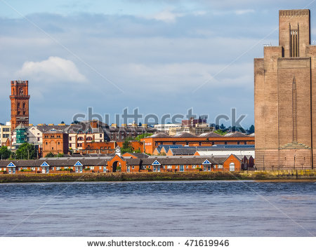 Mersey River Stock Photos, Royalty.