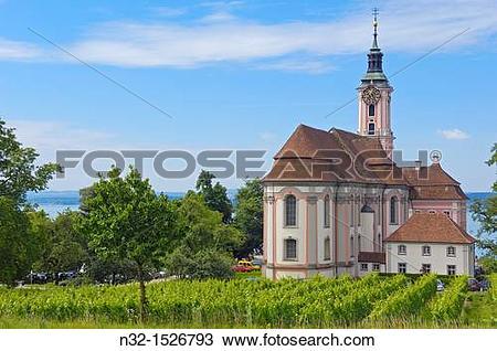 Stock Photo of Birnau, Monastery Birnau, Birnau sanctuary, Marian.