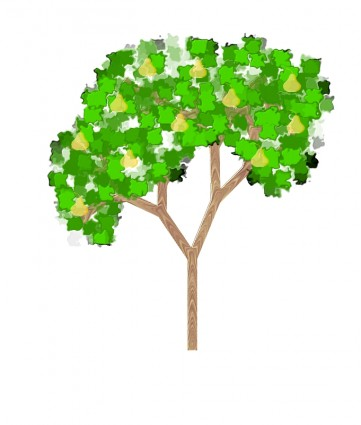 Abstract Tree Free Vector / 4Vector.