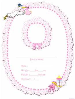 Birth Announcement Clip Art.