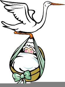 Baby Girl Birth Clipart.