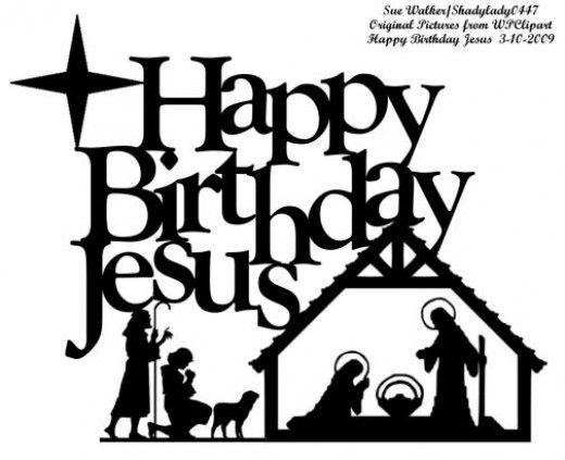 Happy Birthday Jesus Clip Art.