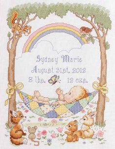 Dimensions Needlecrafts Stamped Cross Stitch, Teddy and Friends.