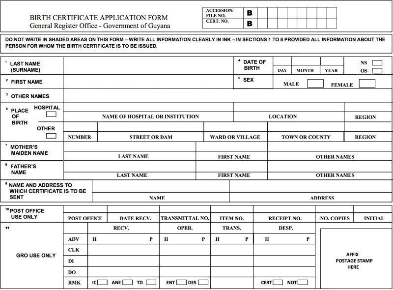 How To Get Your Guyana Birth Certificate.