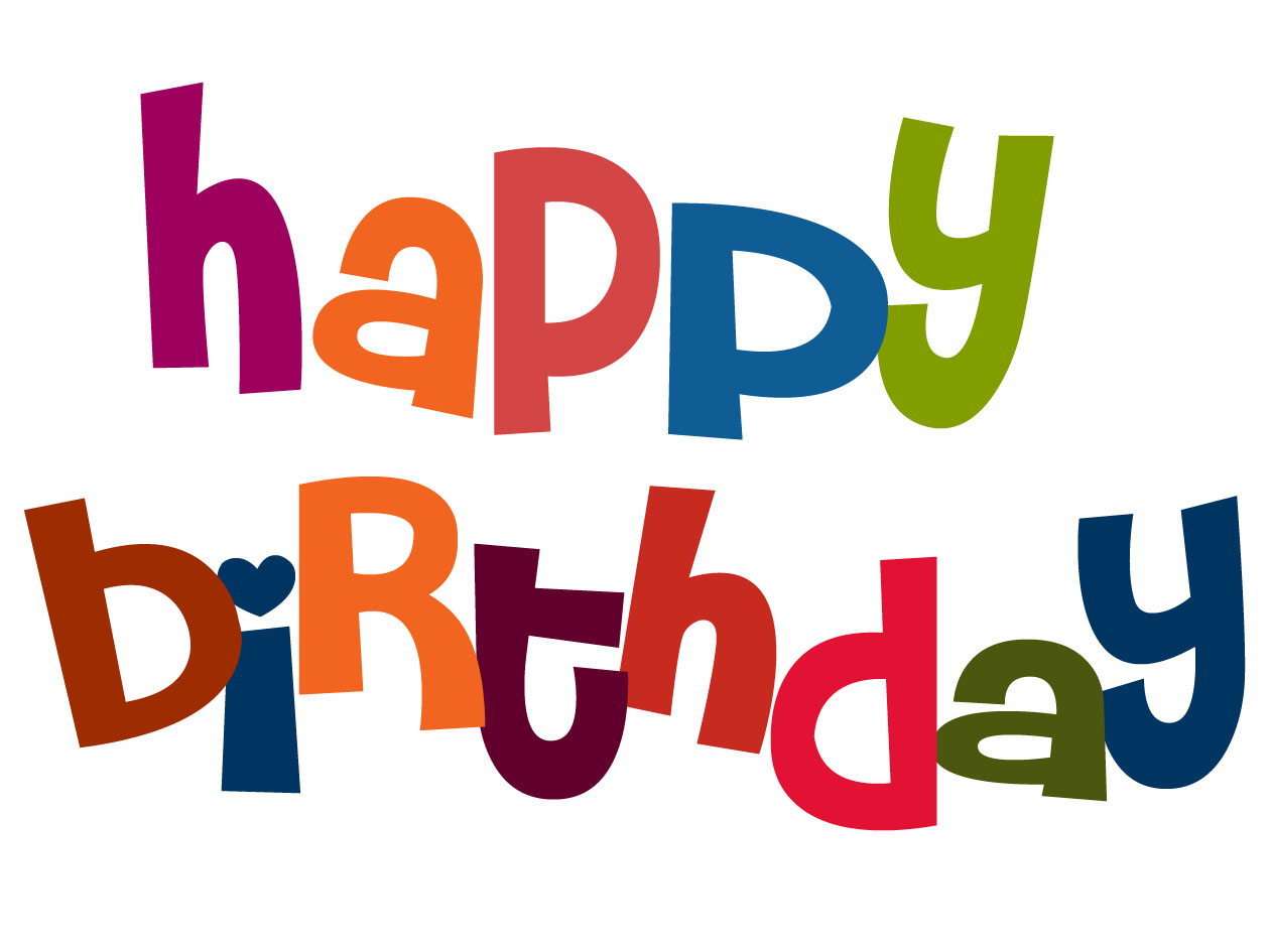 Birthday Word Clip Art.