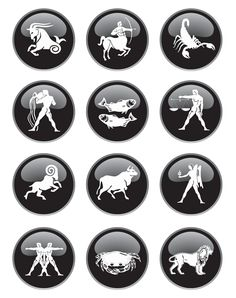 Zodiac Signs Clip Art Set.