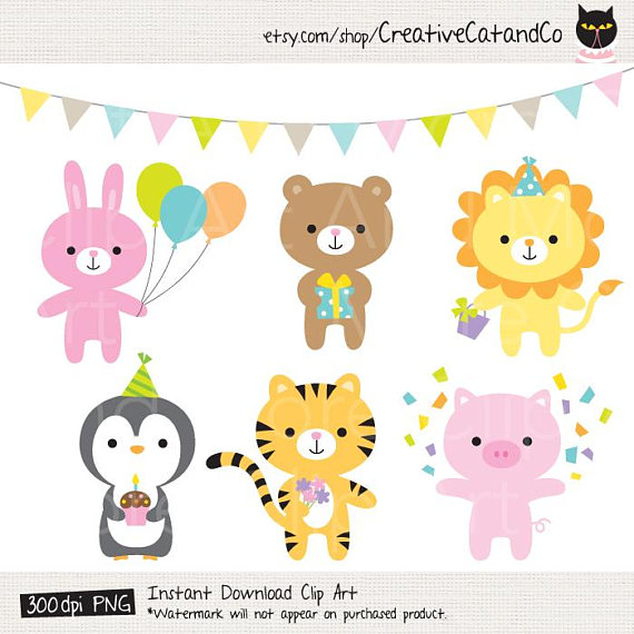 Birthday Animal Clipart Party Animal Clipart Birthday Party Clipart.