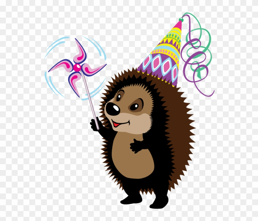 Hedgehog Clipart Happy Birthday.