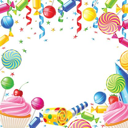 Birthday Background With Vector Illustration premium clipart.