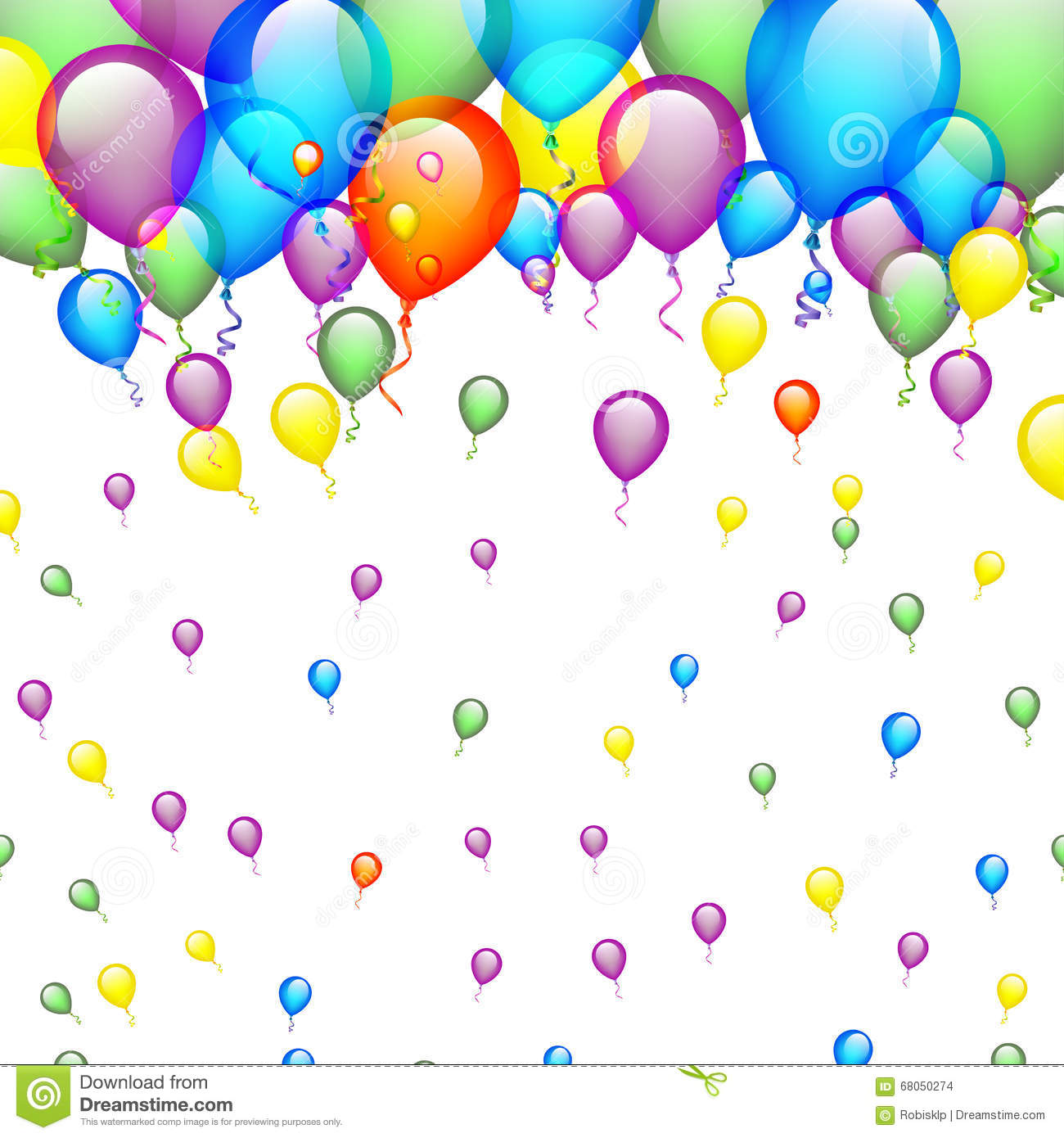 Birthday Background With Balloons Stock Vector.
