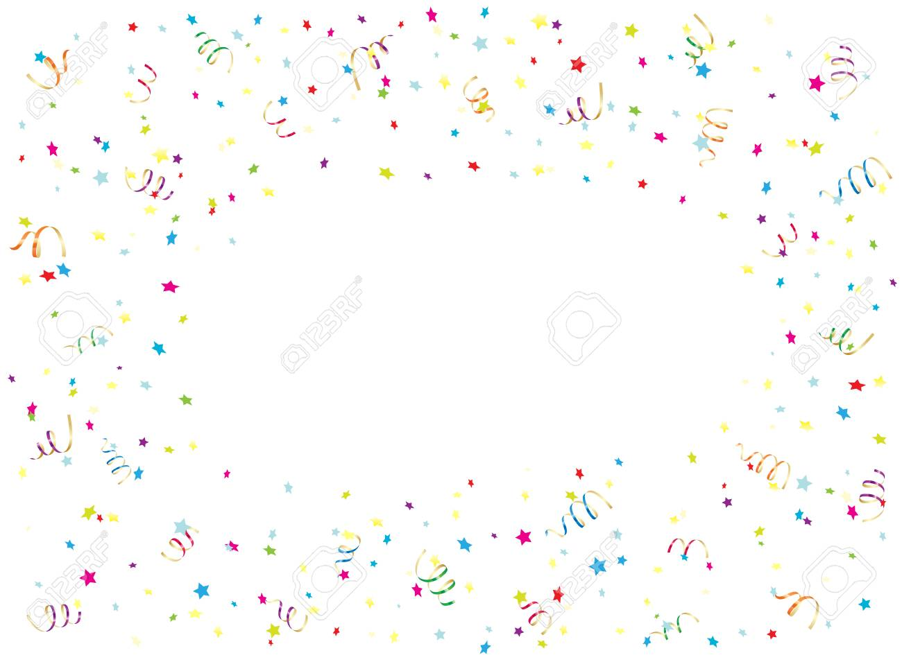 Happy Birthday background with multicolored streamers and confetti,...