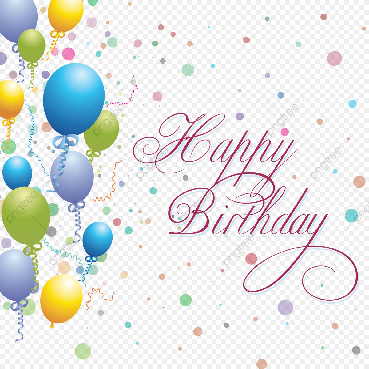 Happy Birthday Balloons Background, Background, Ballons, Birthday.
