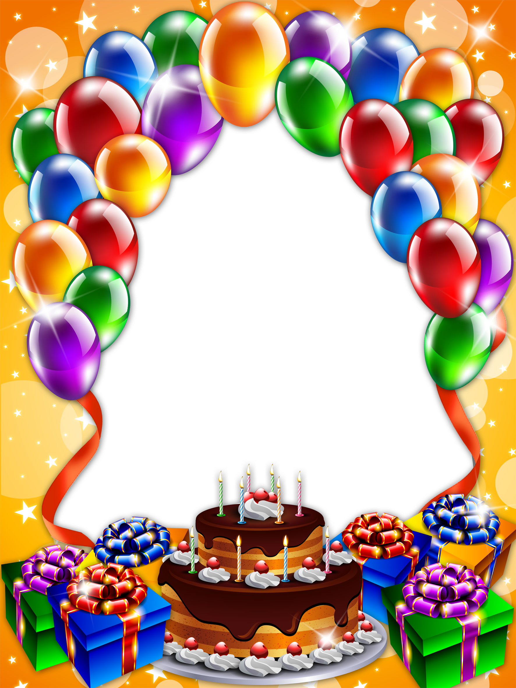 Birthday Frame png images free download.
