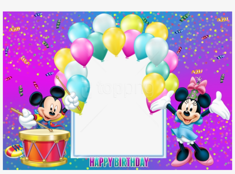 Free Png Happy Birthday Mickey Mouse Transparent Kids.