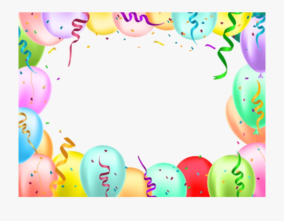 Birthday Balloons Border Png.