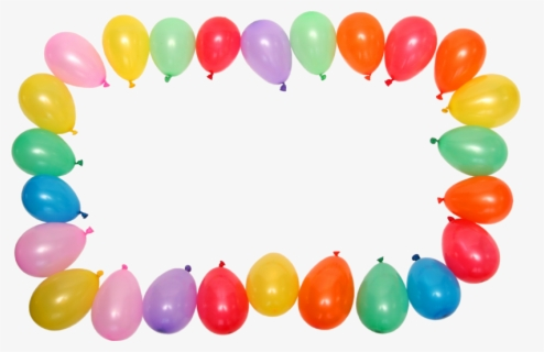 Free Balloons Border Clip Art with No Background.