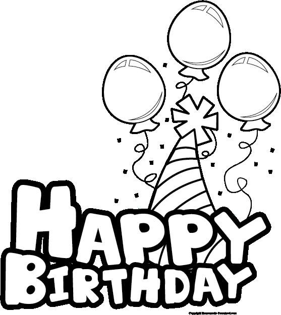Best Birthday Clip Art Black And White #9137.