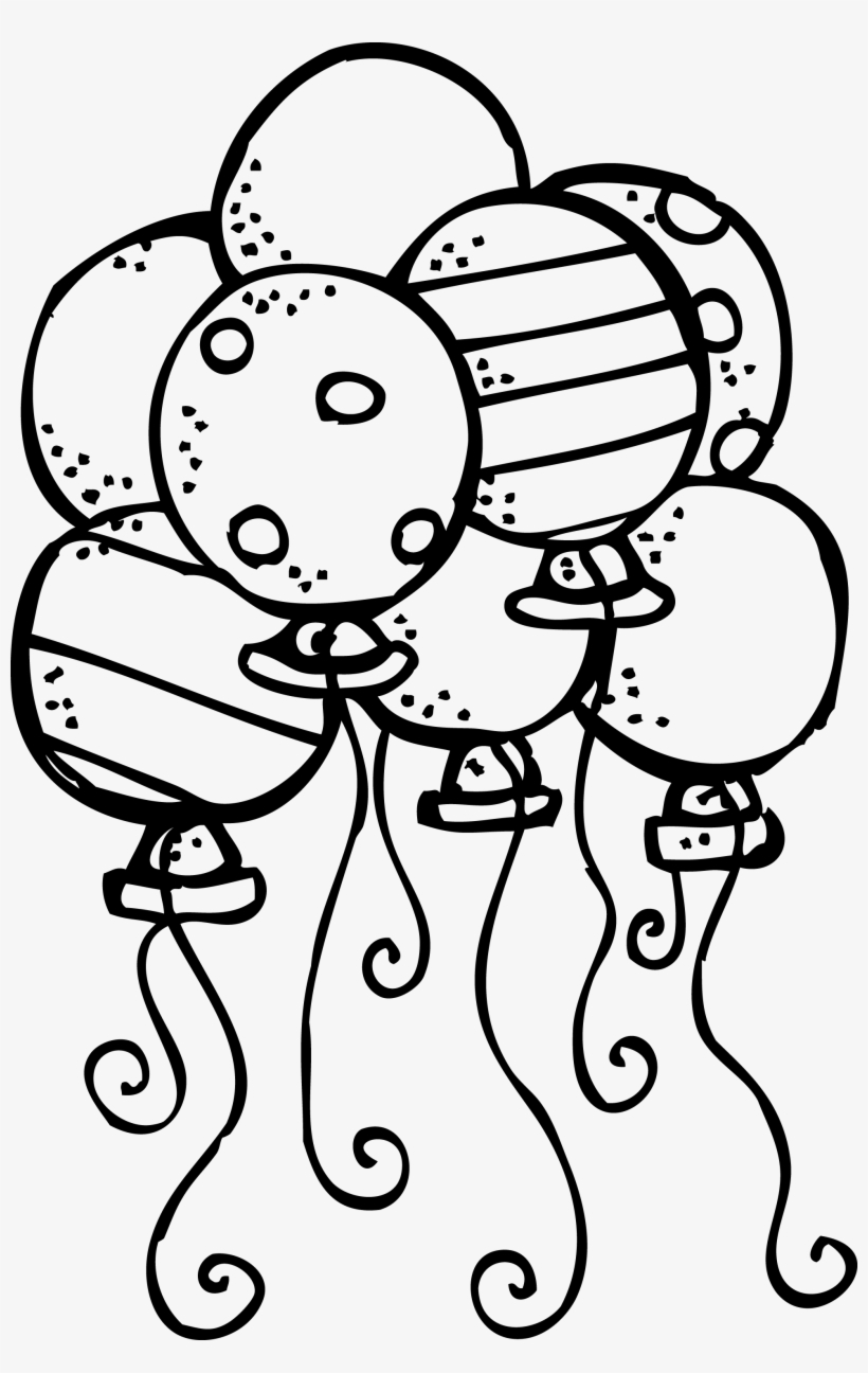 Balloons Clipart Black And White.