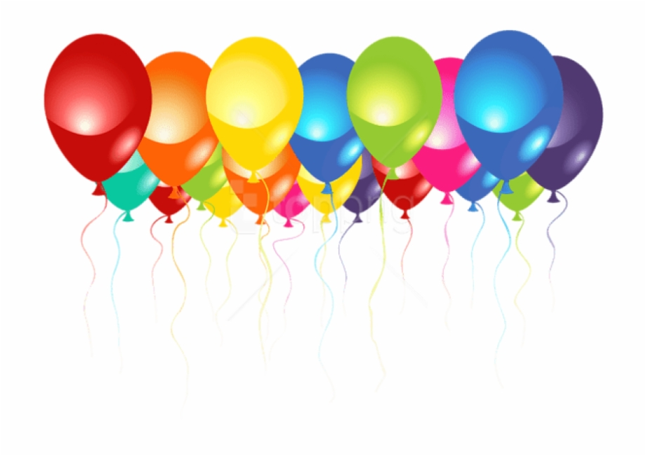 Free Birthday Balloons Transparent Background, Download Free.