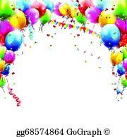 Birthday Balloons Clip Art.