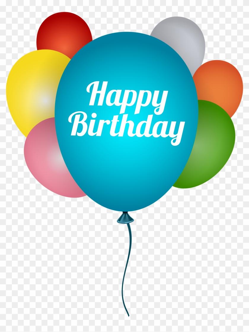 Happy Birthday Balloons Png Clip Art Image.