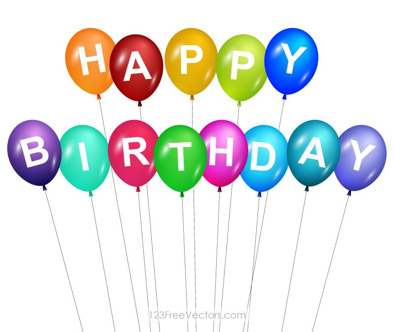 Happy Birthday Balloons Clip Art.